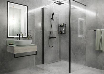 Łazienka w stylu industrialnym wielkich formatach Azario Luna