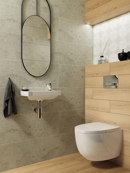 Toaleta w dwóch kolorach z patchworkowym wykończeniem