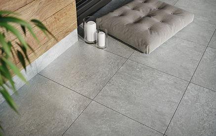 Detal płytki inspirowanej betonem Cersanit Lando