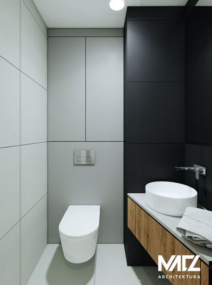 Szaro-czarna toaleta