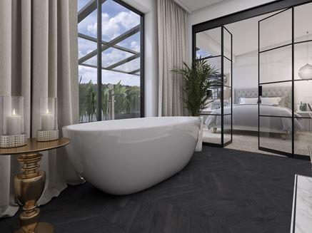 Łazienka glamour obok sypialni
