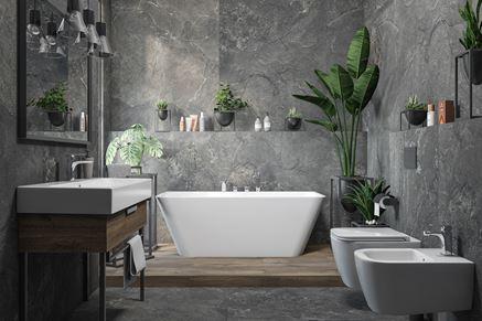 Łazienka naturalnie piękna - Tubądzin