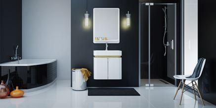 Biało-czarna łazienka Excellent Colors