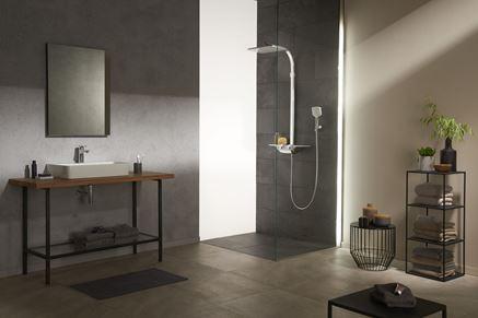 Nowoczesna łazienka z industrialnymi akcentami