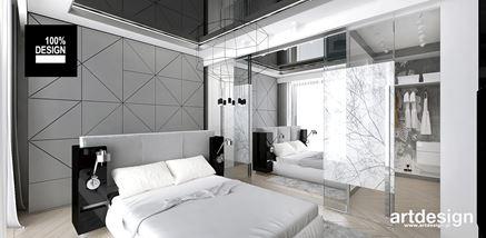 Nowoczesna sypialnia z garderoba
