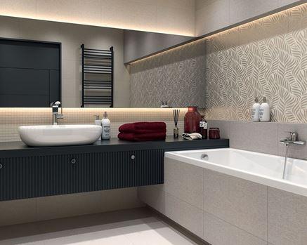 Aranżacja nowoczesnej łazienki Paradyż Symetry/Symetro