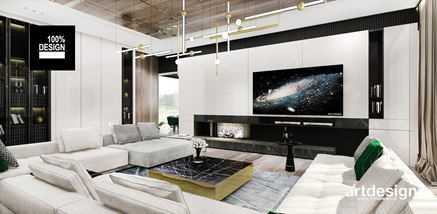 Stylowa strefa wypoczynkowa w nowoczesnym salonie