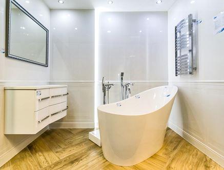 Salon kąpielowy w minimalistycznej formie