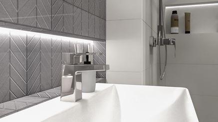 Paradyż Motivo w nowoczesnej łazience