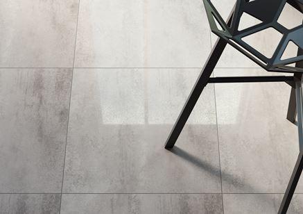 Detal uniwersalnej płytki z wzorem betonu Opoczno