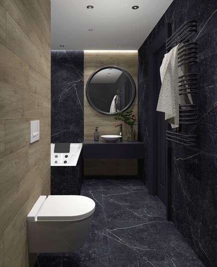 Paradyż Barro - aranżacja nowoczesnej łazienki