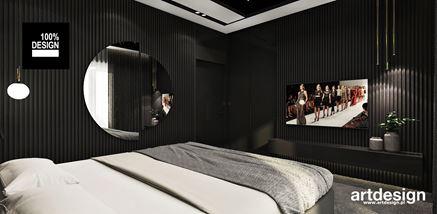 Pomysł na ściany w sypialni - czarne lamele