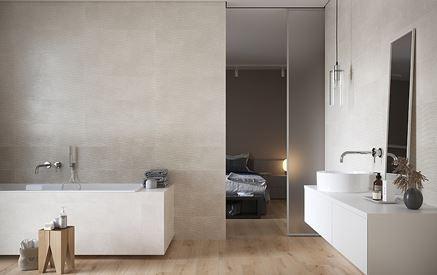 Stonowana łazienka w beżach Cersanit Torana