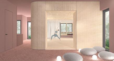 Joga Studio - projekt wnętrza