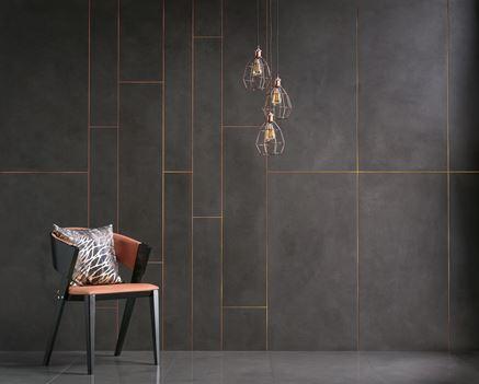 Nowoczesne wykończenie ścian inspirowane betonem