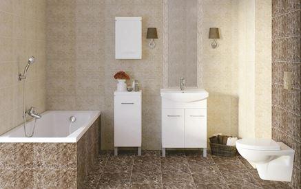 Klasyczna łazienka w marmurowych płytkach