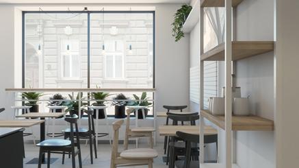 Kawiarnia w Bielsku-Białej - stoliki