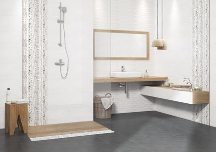 Szaro-biała łazienka w kolekcji Cersanit Wika