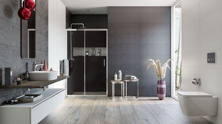 Aranżacja nowoczesnej łazienki w stonowanych kolorach