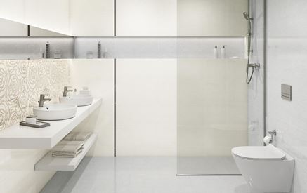 Minimalistyczna łazienka w jasnej kolorystyce
