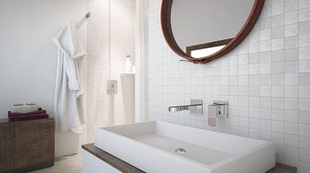 Łazienka w delikatnej mozaice