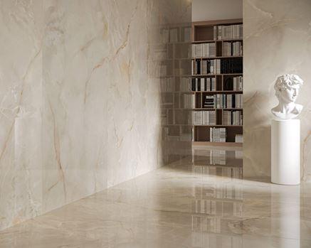 Domowe biuro w wielkoformatowych płytach Paradyż Invisible