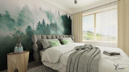 Fototapeta z motywem natury w sypialni