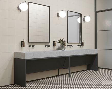 Aranżacja toalety publicznej w stylu klasycznym