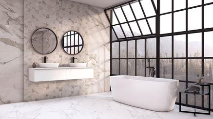 Salon kąpielowy z płytką Azario Catta