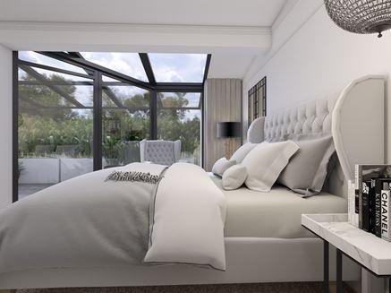 Widok na taras z sypialni