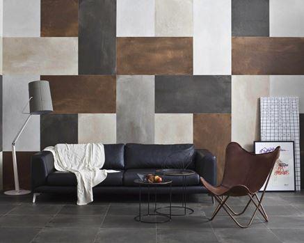 Dekoracyjna ściana w salonie