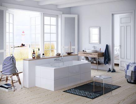 Przestronna biała łazienka z linią Excellent Clever