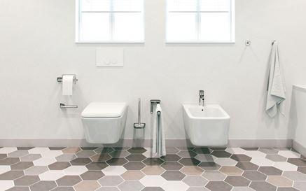 Strefa toaletowa w bieli