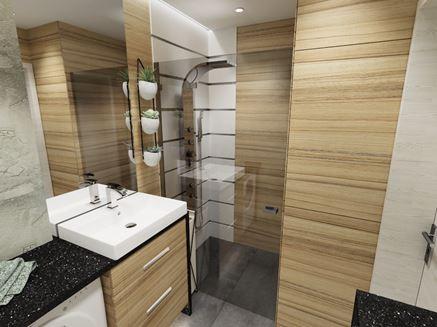 Drewno w skandynawskiej łazience