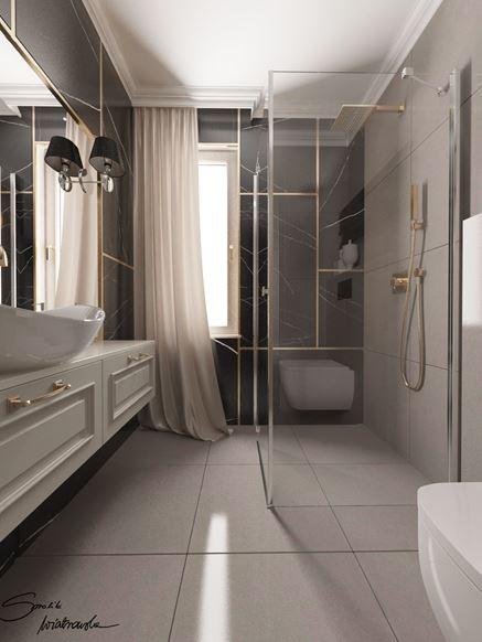 Piękny projekt łazienki - Smolik i Wiatrowska