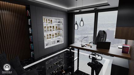 Gabinet/biuro w projekcie Moonfield Studio