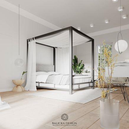 Sypialnia skąpana w lekkości i subtelności
