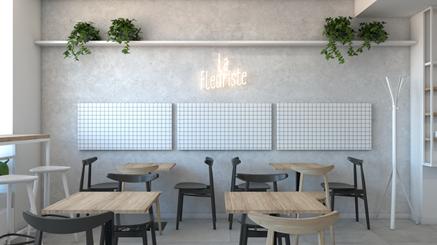 La Fleuriste - wnętrze kawiarni