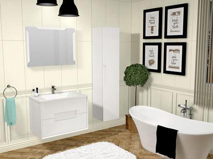 Meble łazienkowe z kolekcji Oristo Modena