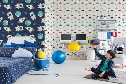 Pokój małego astronauty w fototapetach Pixers
