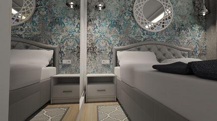 Detale w eleganckiej sypialni