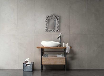 Szara ściana w łazience Nowa Gala Neutro