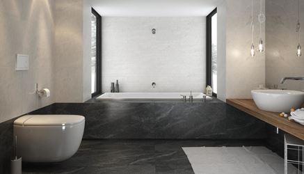 Minimalistyczna łazienka w kamieniu