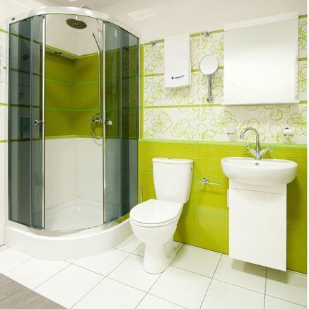 Zielona łazienka z Omnires Modern