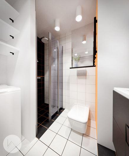 Praktyczna, mała łazienka