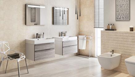 Beżowa łazienka dla dwojga