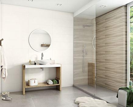 Łazienka w stylu skandynawskim z płytką Paradyż Daikiri