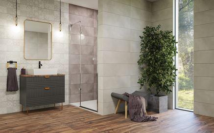 Nowoczesna łazienka w odcieniach szarości Vijo Twin