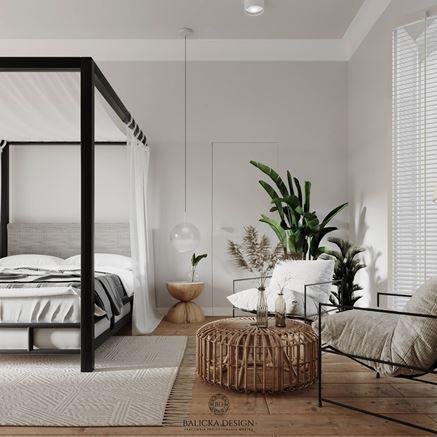 Jasna główna sypialnia