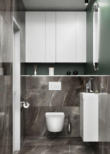 Toaleta w ciemnym kamieniu Azario Storm Nero